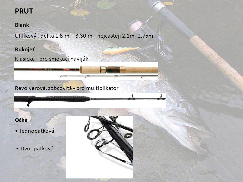 PRUT Blank Uhlíkový , délka 1.8 m – 3.30 m , nejčastěji 2.1m- 2.75m