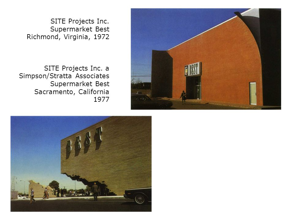 SITE Projects Inc. Supermarket Best Richmond, Virginia, 1972 SITE Projects Inc.