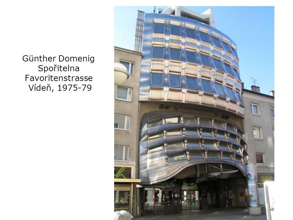 Günther Domenig Spořitelna Favoritenstrasse Vídeň, 1975-79