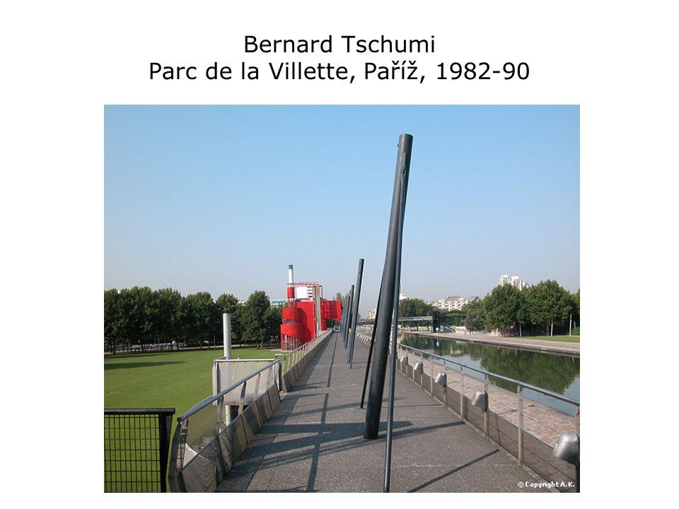 Bernard Tschumi Parc de la Villette, Paříž, 1982-90