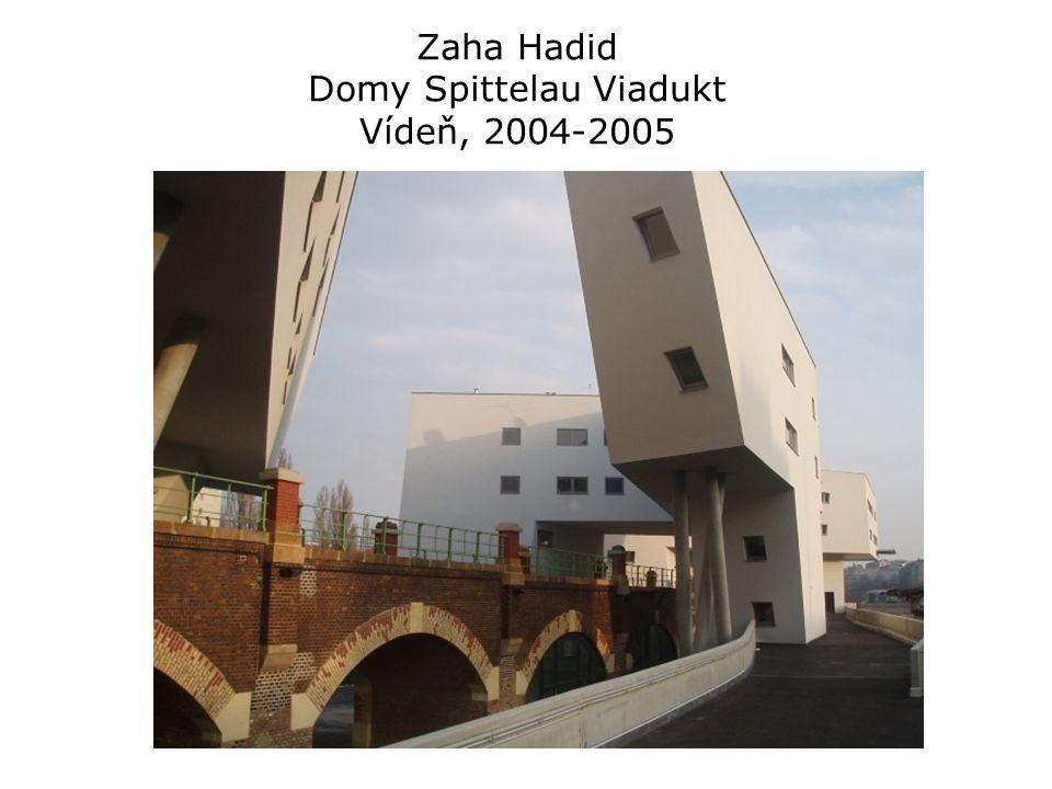 Zaha Hadid Domy Spittelau Viadukt Vídeň, 2004-2005