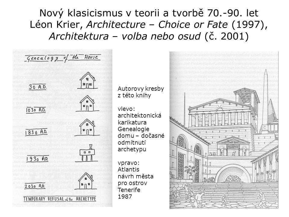 Nový klasicismus v teorii a tvorbě 70. -90