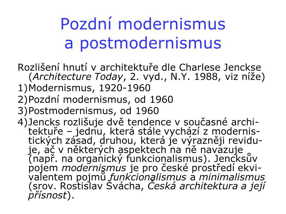 Pozdní modernismus a postmodernismus