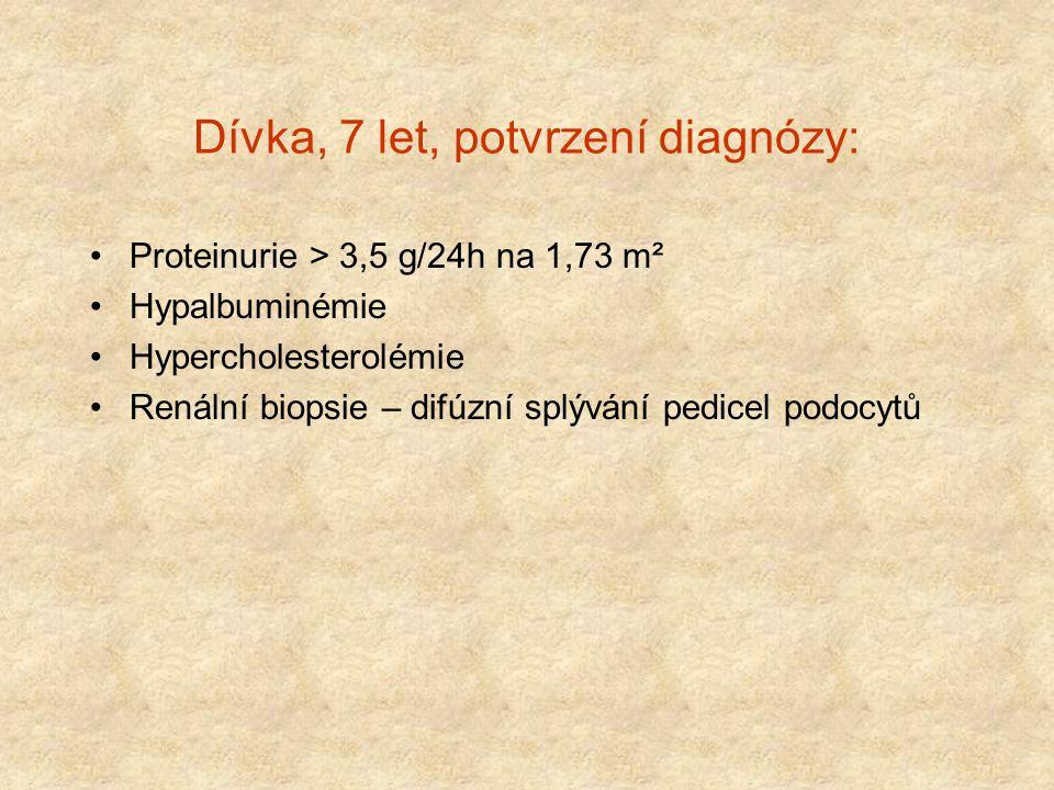 Dívka, 7 let, potvrzení diagnózy: