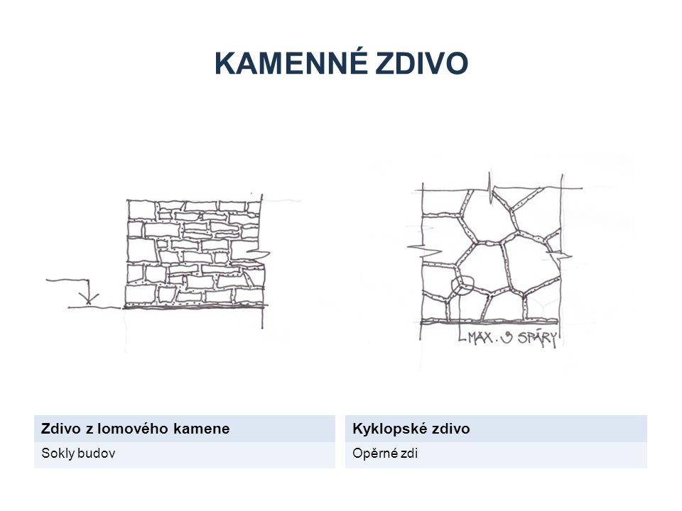 Kamenné zdivo Zdivo z lomového kamene Kyklopské zdivo Sokly budov