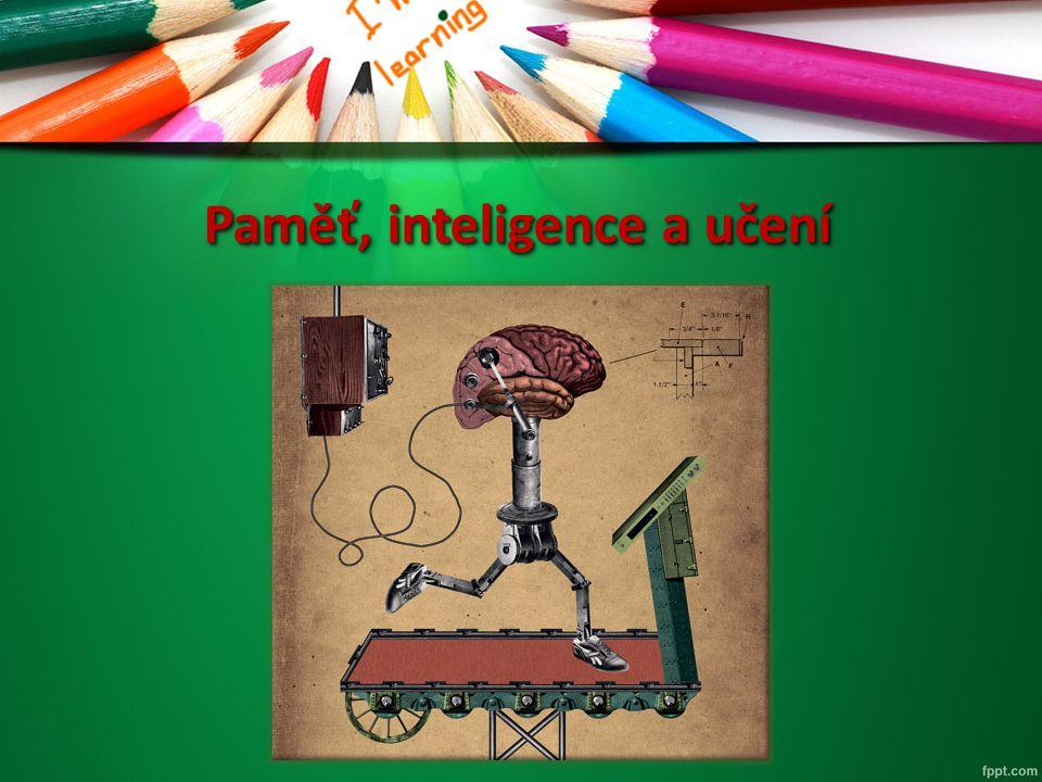 Paměť, inteligence a učení