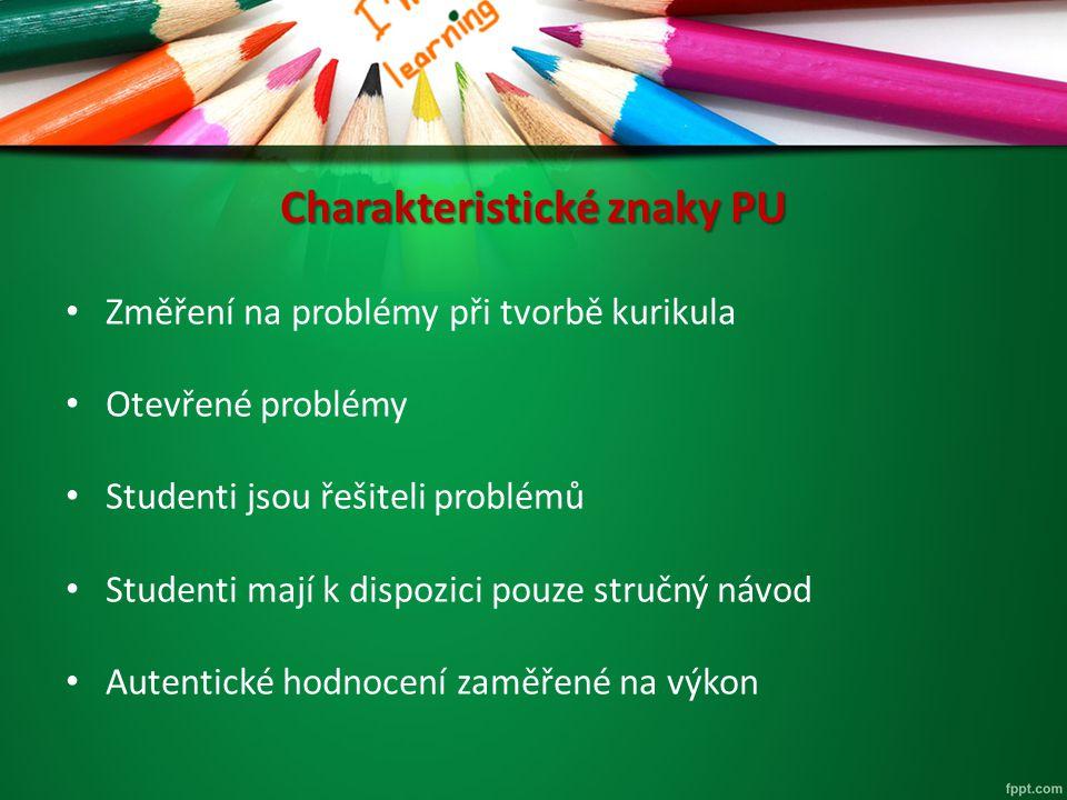 Charakteristické znaky PU