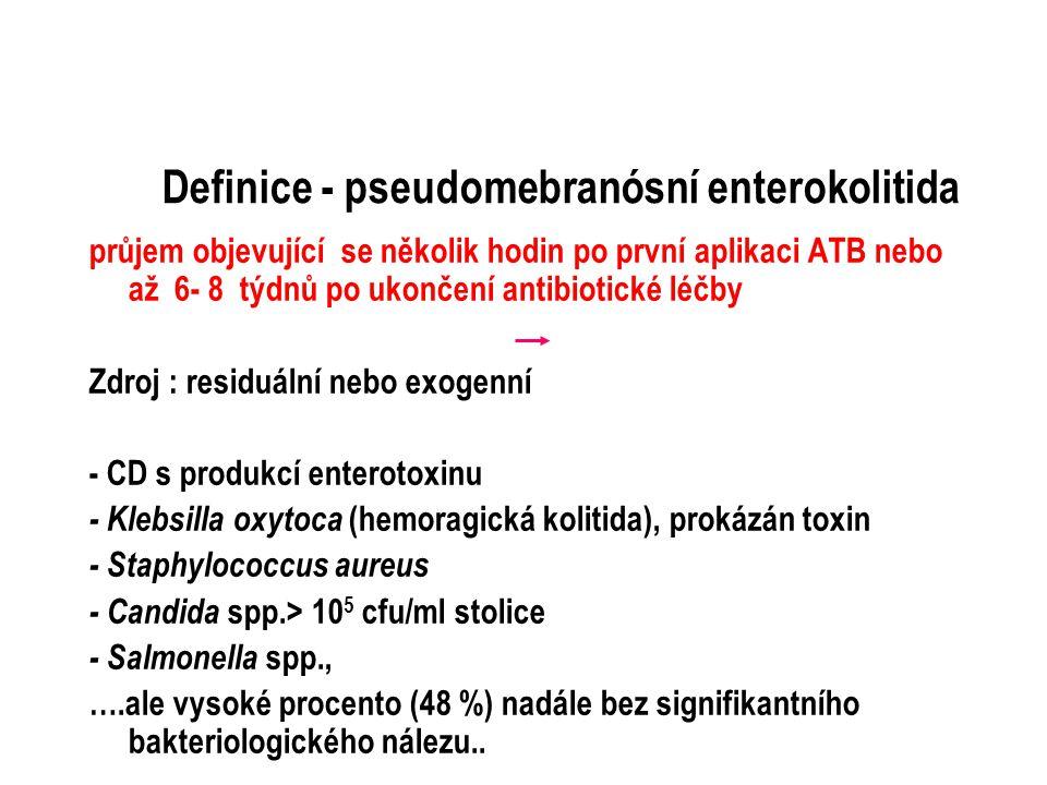 Definice - pseudomebranósní enterokolitida