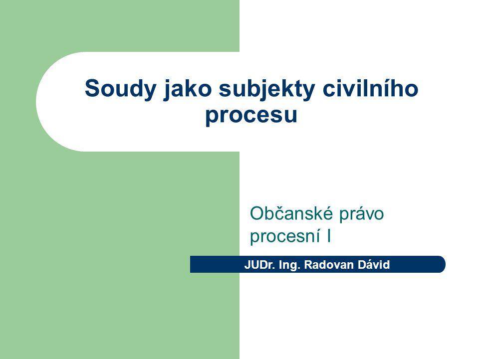 Soudy jako subjekty civilního procesu