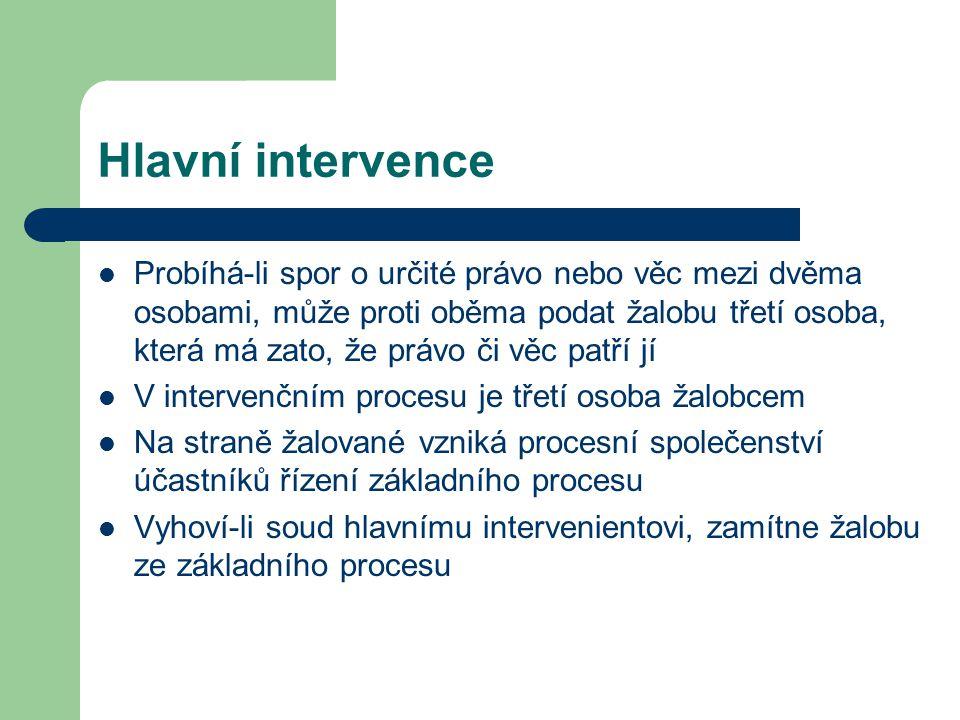 Hlavní intervence