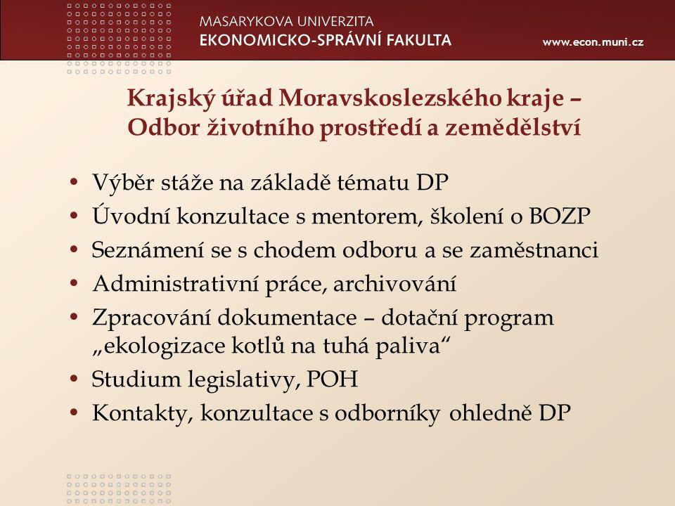Krajský úřad Moravskoslezského kraje – Odbor životního prostředí a zemědělství