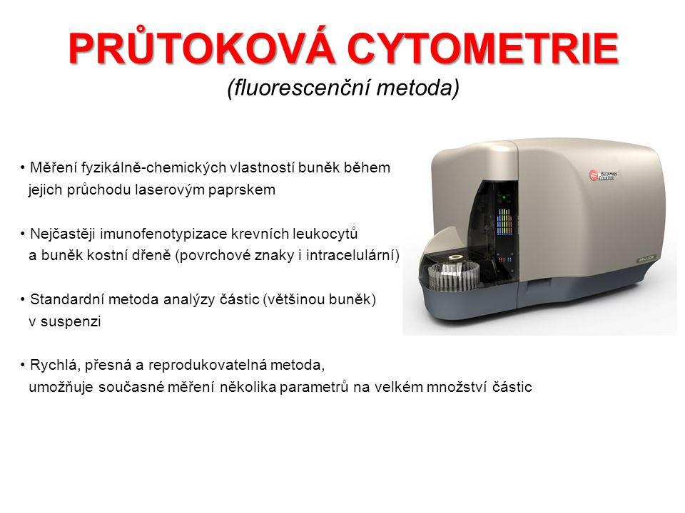 PRŮTOKOVÁ CYTOMETRIE (fluorescenční metoda)
