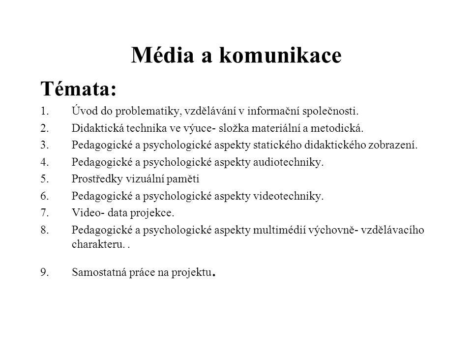 Média a komunikace Témata: