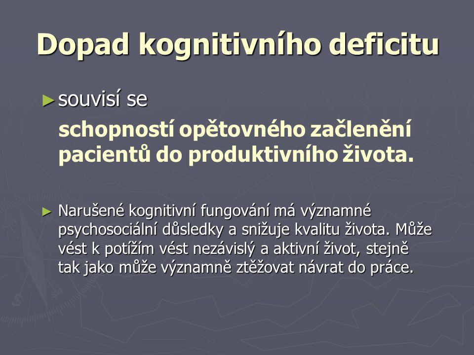 Dopad kognitivního deficitu