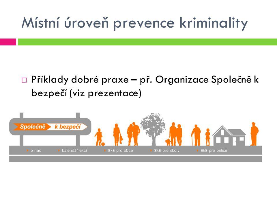 Místní úroveň prevence kriminality