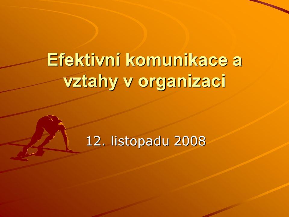 Efektivní komunikace a vztahy v organizaci