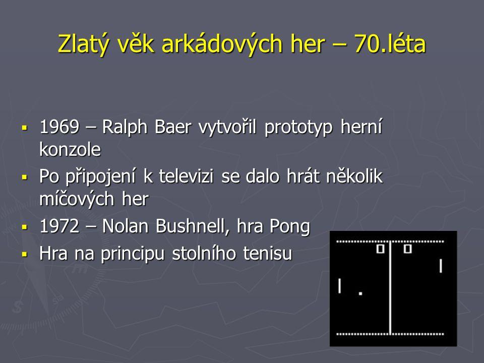 Zlatý věk arkádových her – 70.léta