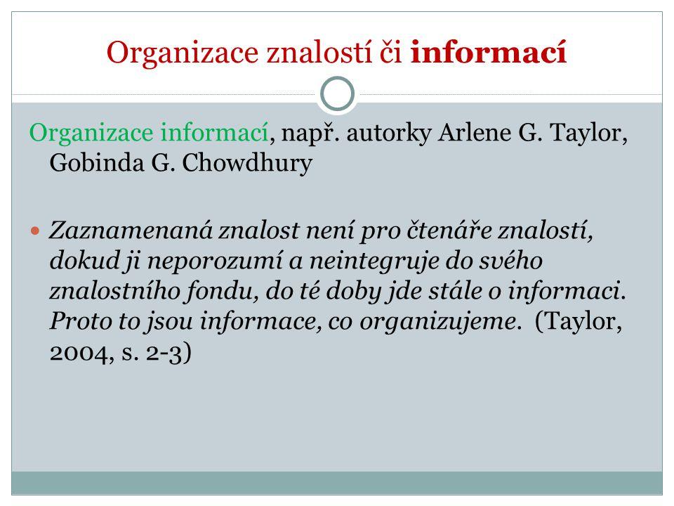 Organizace znalostí či informací