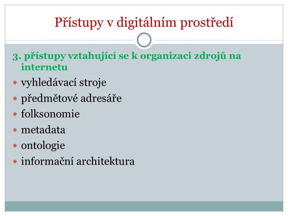 Přístupy v digitálním prostředí