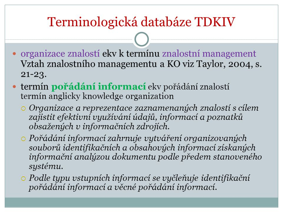 Terminologická databáze TDKIV