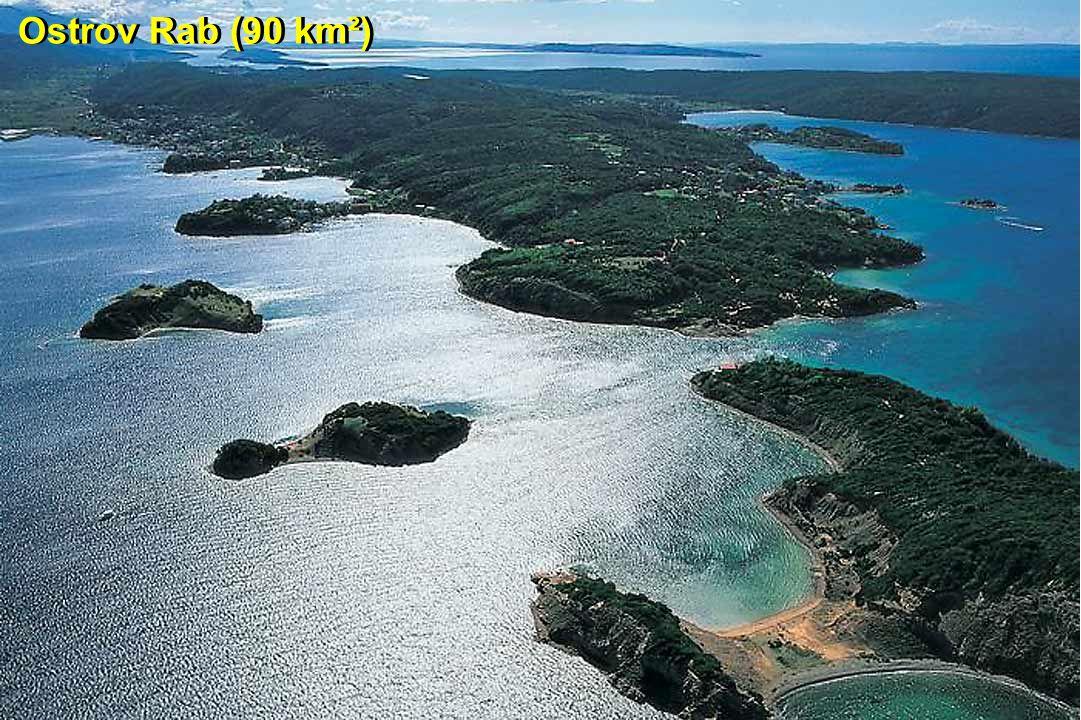Ostrov Rab (90 km²)