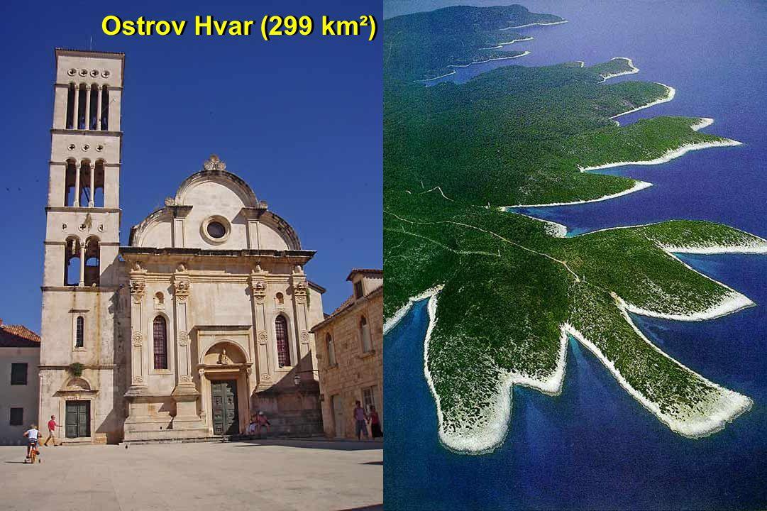 Ostrov Hvar (299 km²)