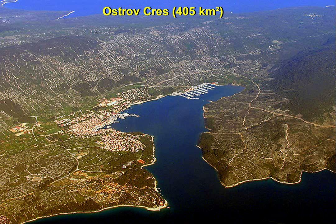 Ostrov Cres (405 km²)