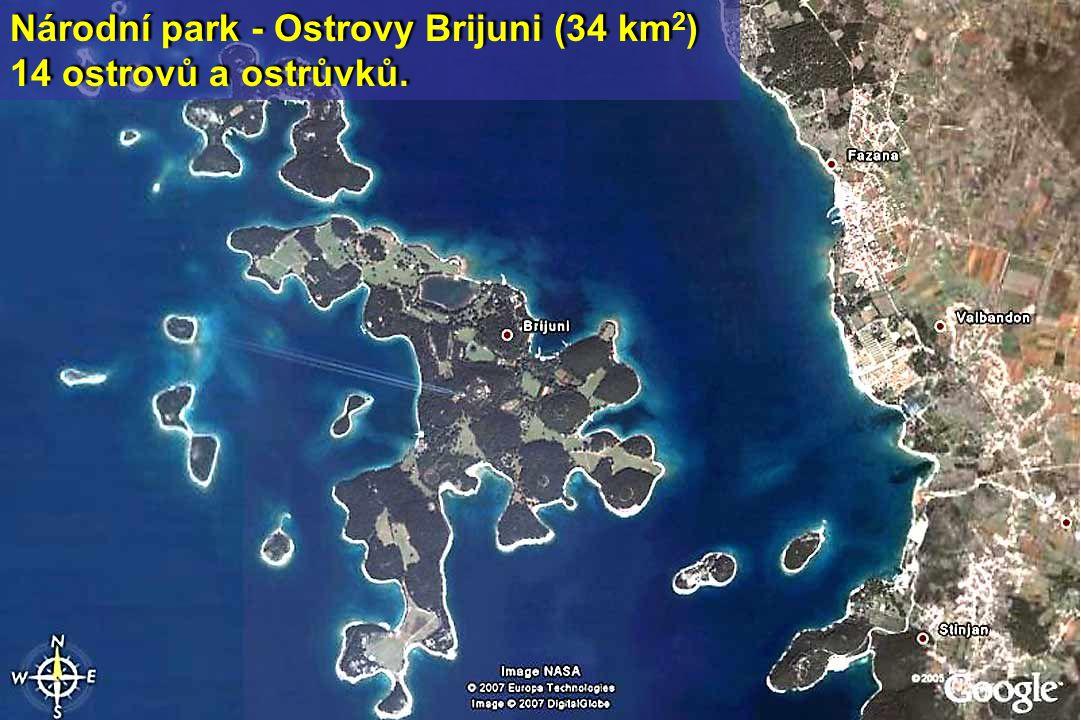 Národní park - Ostrovy Brijuni (34 km2)