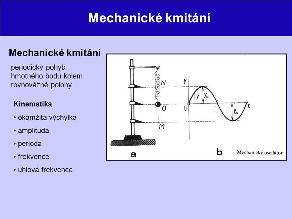 Mechanické kmitání Mechanické kmitání