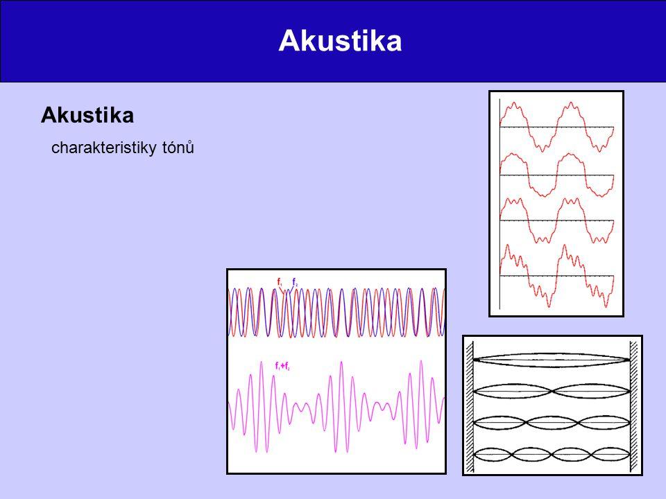 Akustika Akustika charakteristiky tónů