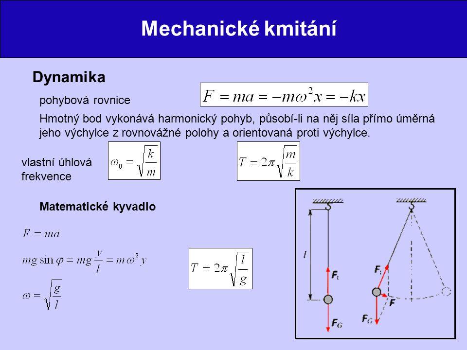 Mechanické kmitání Dynamika pohybová rovnice