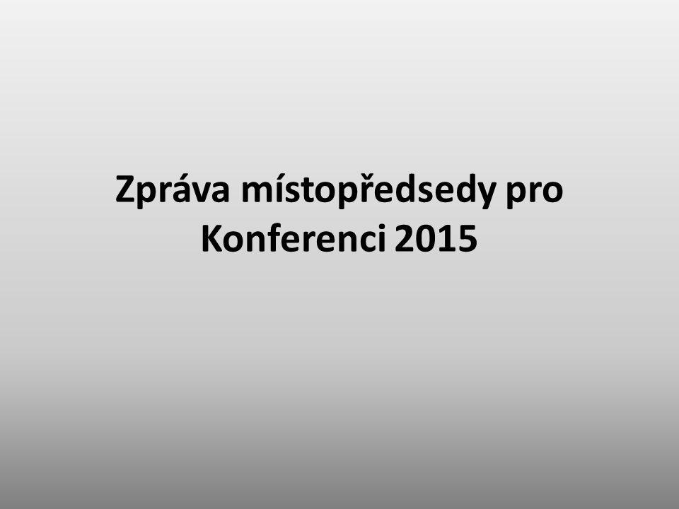 Zpráva místopředsedy pro Konferenci 2015