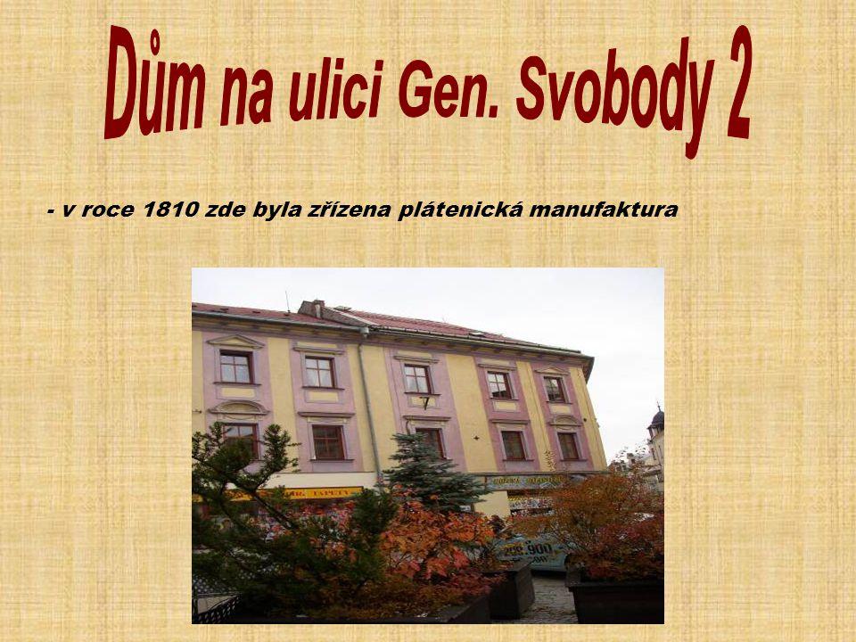 Dům na ulici Gen. Svobody 2