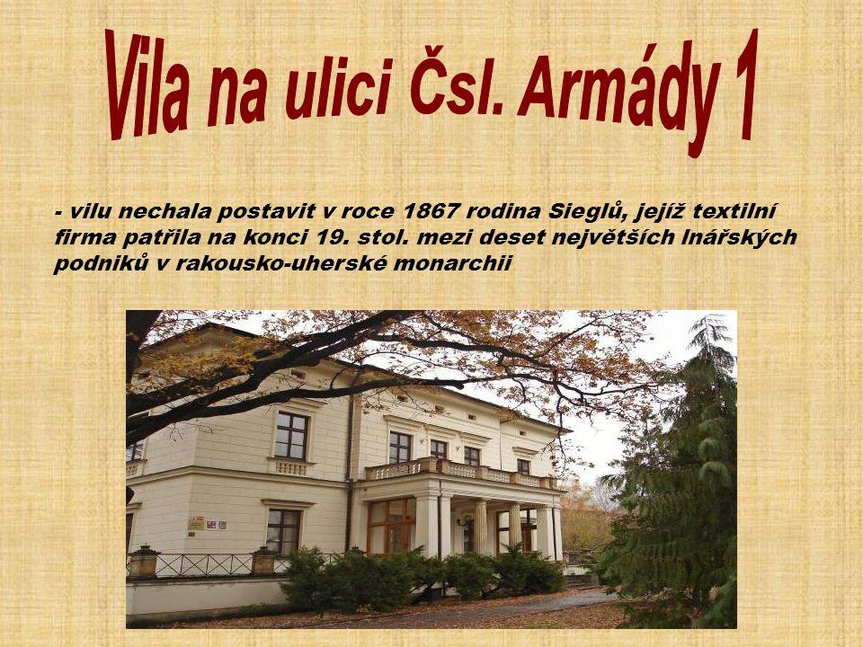 Vila na ulici Čsl. Armády 1