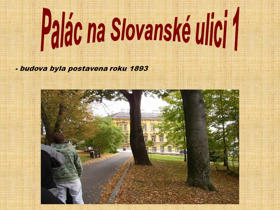 Palác na Slovanské ulici 1