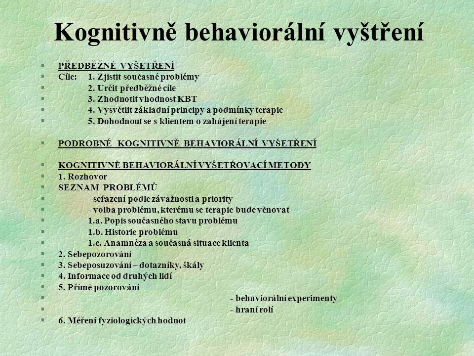 Kognitivně behaviorální vyštření