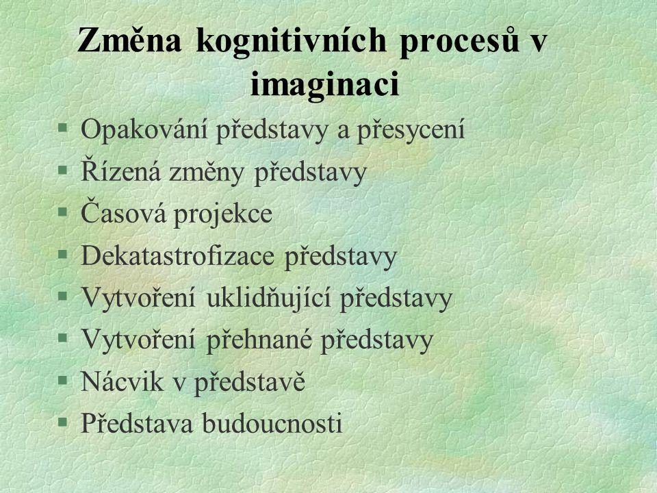 Změna kognitivních procesů v imaginaci
