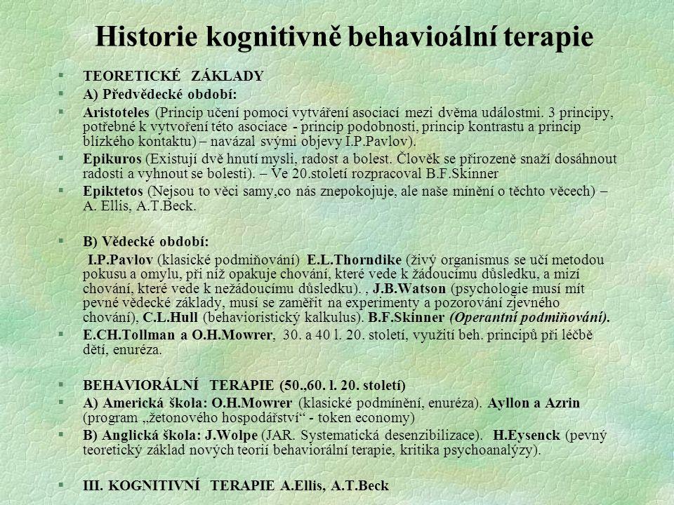 Historie kognitivně behavioální terapie
