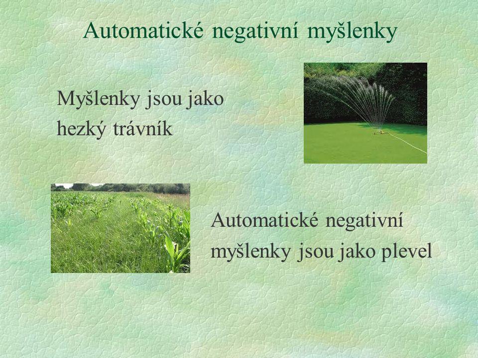 Automatické negativní myšlenky