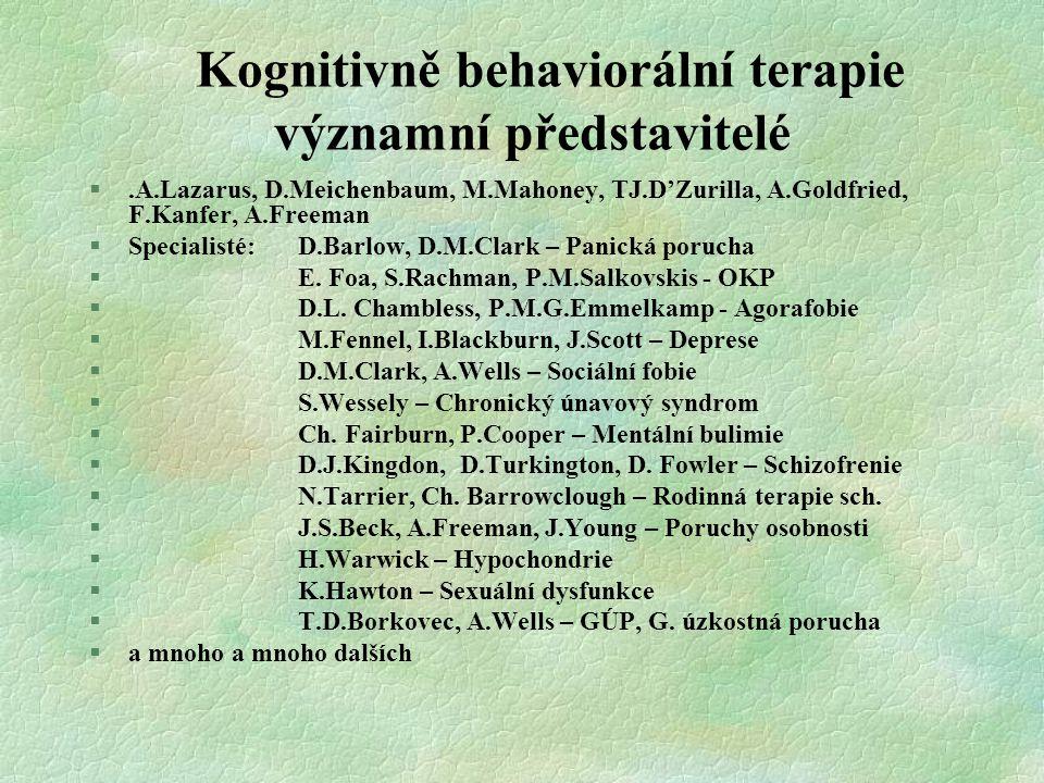 Kognitivně behaviorální terapie významní představitelé