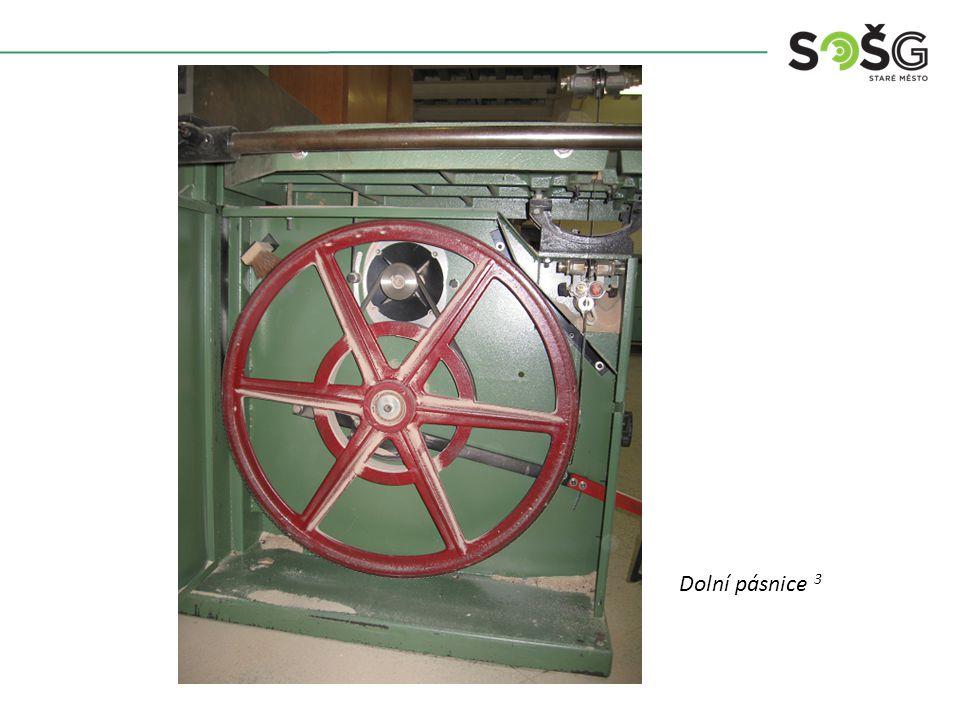 Dolní pásnice 3 Vícekotoučová rozřezávací pila PWR 201 TOS Svitavy - detail