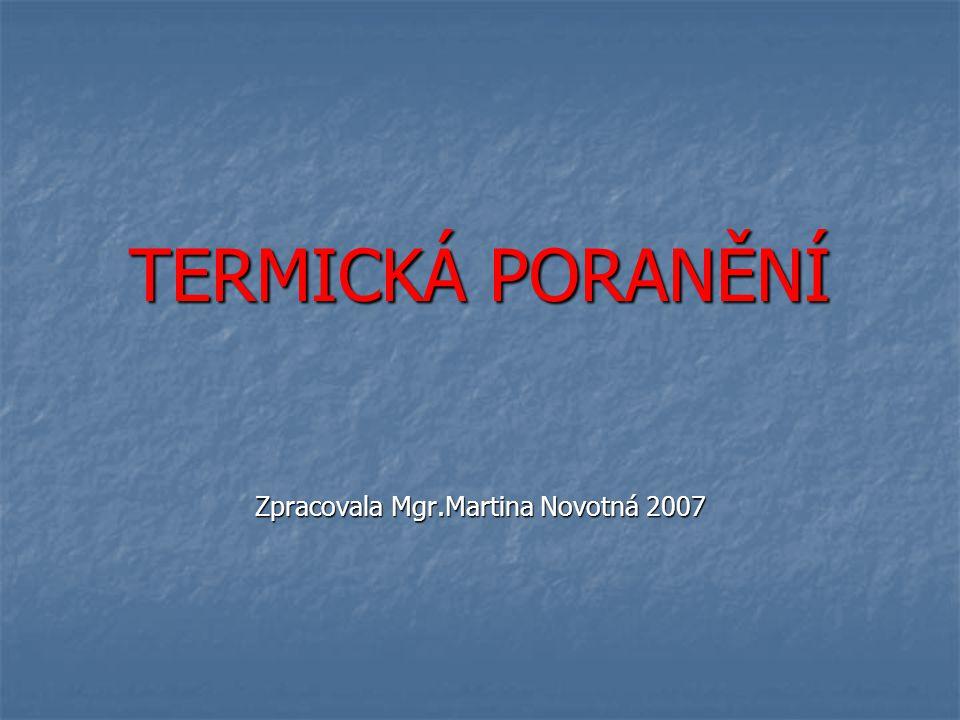 Zpracovala Mgr.Martina Novotná 2007