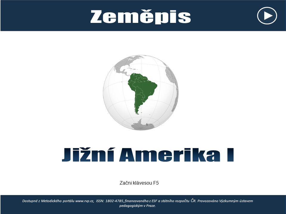 Jižní Amerika I Zeměpis Začni klávesou F5