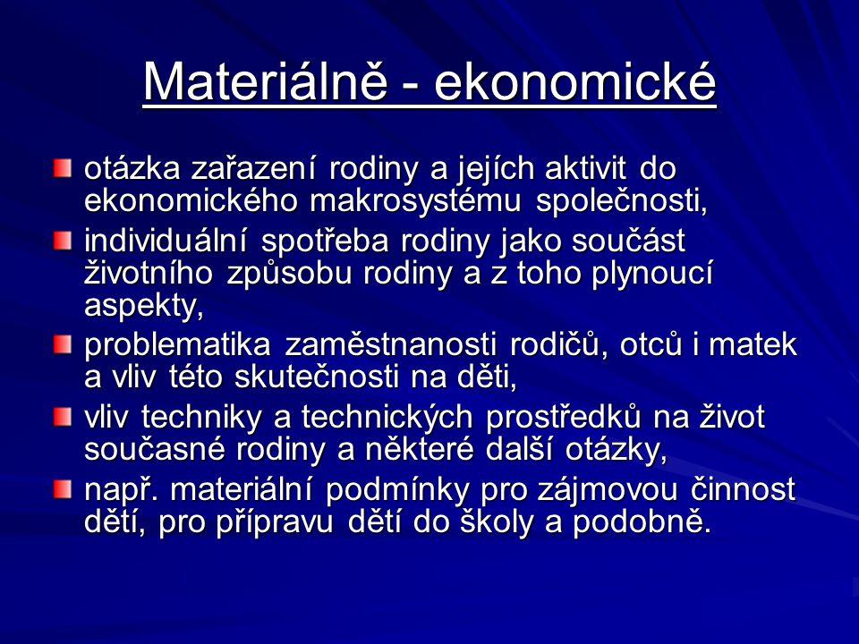 Materiálně - ekonomické