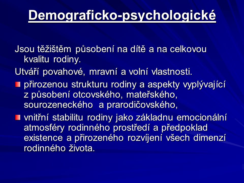 Demograficko-psychologické