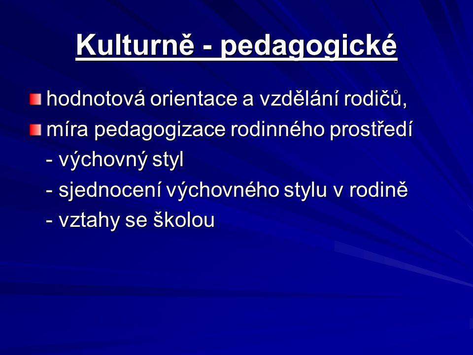 Kulturně - pedagogické