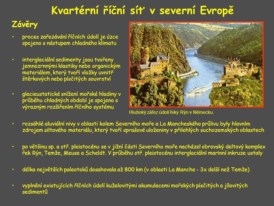 Kvartérní říční síť v severní Evropě