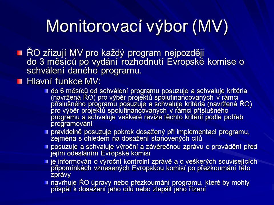 Monitorovací výbor (MV)