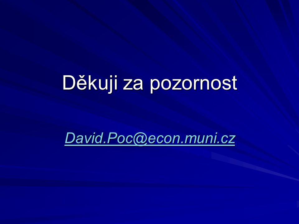 Děkuji za pozornost David.Poc@econ.muni.cz