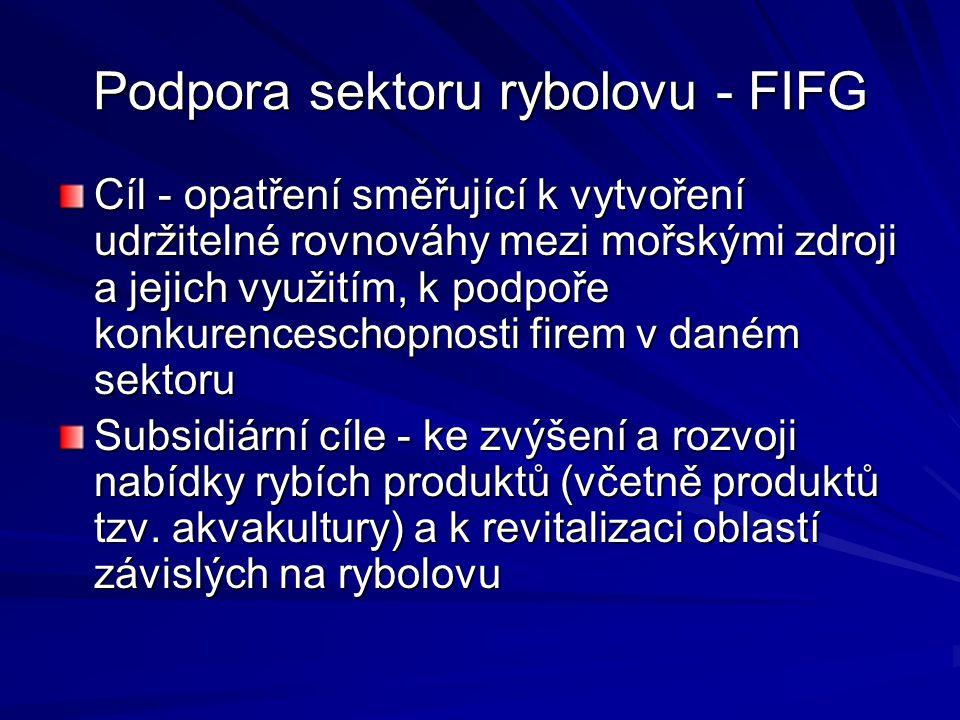 Podpora sektoru rybolovu - FIFG